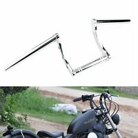 "1"" guidon z bar chrome moto Bobber Chopper handelbar Pour Harley Suzuki Honda"