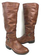 Apt 9 Cognac Doctor Knee High Boots Womens 10 M (Wide Calf)