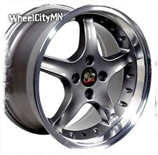 17x9 17x8 staggered Ford Mustang Cobra R OE replica wheels 4x108 NEW set of 4