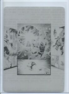 2018-19 UD MARVEL ANNUAL PRINTING PLATE INSERT TOP VILLAINS THANOS 1/1 AVENGERS