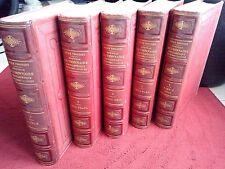 Dictionnaire encyclopédique illustré Jules Trousset fin XIXième en 5 tomes