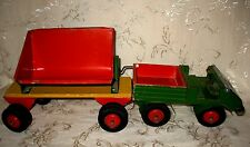 Steiff - Metal Jeep & Wagon/Cart, RARE piece with Steiff Logo on both pieces
