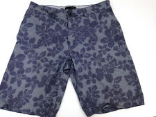 Banana Republic Print Shorts Mens 32 Blue Floral Hawaiian Beach Inseam 11""