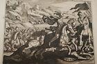 GRAVURE SUR CUIVRE VICTOIRE DE JUDAS-BIBLE 1670 LEMAISTRE DE SACY (B169)