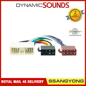 CT20SY01 Car Stereo ISO Wiring Harness Adaptor Lead for SsangYong All Models