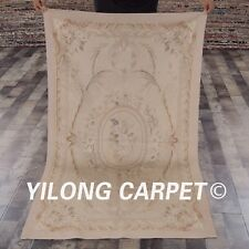 Yilong 3'x5' Handmade French Aubusson Wool Carpets Home Decor Area Rugs W39C
