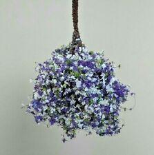 Dollhouse Miniature - Fairy Garden Small Hanging Flower Basket Handcrafted 1:12