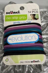 Scunci No-Slip Grip Gel Evolution Ponytailers 14 Pc Set Multi Color