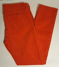 Banana Republic Women's Skinny Leg Corduroy Pants | 34x31 | Bright Orange | EUC