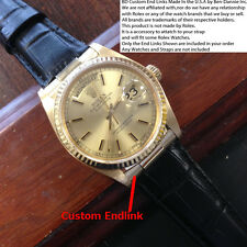 Fits Your Rolex Day Date President II 2 - Custom Solid 18k Gold strap End Links