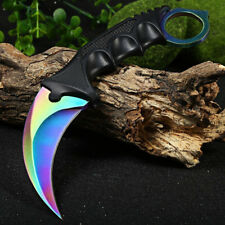 CS GO Karambit Fixed Blade Steel Knife Tactical Counter Strike Knive Hunting NEW