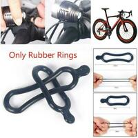 2Pcs Black Rubber Band PVC Ring For T6 Led Headlight Bike Headlamp Lamp