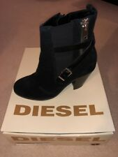 Diesel D Kinley Chelsea Black Boots Boots Leather Shoes -EUR40 UK7