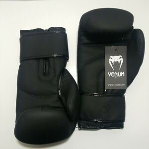 Venum Contender 2.0 Boxing Gloves Black Adult 12 oz Simulated Leather