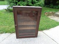 Antique/Vintage Hand Made General Store Advertising Thread Display Cabinet Case