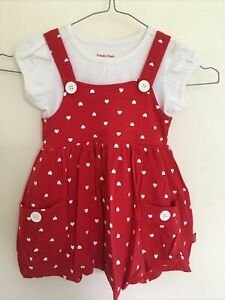 Pumpkin Patch - Girls - Red / White - White hearts - Size 4  -  EUC