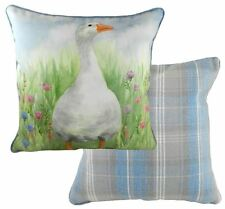 EVANS LICHFIELD COUNTRY MANOR GOOSE MADE IN UK DUCK EGG BLUE CUSHION 43CM