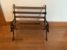 Park Bench Doll Furniture 15x12x10 Wood And Metal