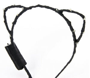 Claire's Light Up Cat Ears Headband in Black New with Tags