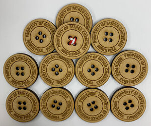 10 x SANTA'S LOST BUTTON - CHRISTMAS EVE, TRADITION, STOCKING FILLER BULK