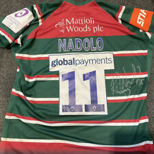 Leicester Tigers Nemani Nadolo Signed European Challenge Cup Match Shirt