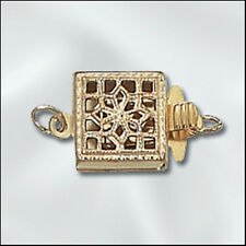 1-Strand Square GOLD-FILLED Filigree Clasp - Beautiful!