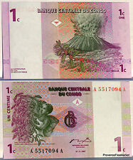 CONGO ex ZAIRE billet neuf de 1 CENTIMES volcan NYIRAGONGO  Pick80 1997