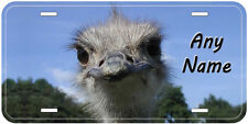 Ostrich Bird Personalized Aluminum Novelty Car Auto License Plate