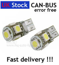 T10 501 W5W Can-Bus interior WHITE LED 5-SMD bulbs