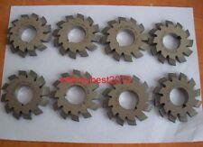 Lot 1Set 8pcs Dp8 14-1/2 Degree #1-8 Involute Gear Cutters 14.5° Degree PA