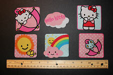 Hello Kitty  Fabric Iron On Appliques style#5  CUTE IRON ONS!!!
