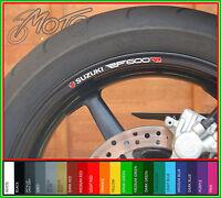 8 x SUZUKI RF600R Wheel Rim Stickers Decals - rf 600 r