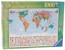 Ravensburger Jigsaw Puzzle PORTRAIT OF THE EARTH Map Flags 1000 Piece