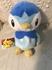 "Pokemon PIPLUP Plush Toy Stuffed Animal Blue Bird 6"" Tall"