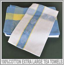 12 X 100% Cotton Extra Large Heavy Duty Premium Quality Tea Towels BEACH 56x92cm