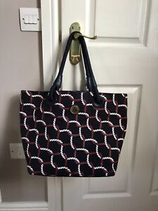 tommy hilfiger bag Shopper Tote Navy Rope Design