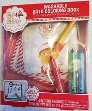 ~NEW ELF ON THE SHELF Washable Bath Coloring Book & 4 Bathtub Crayons Cute FS:)~