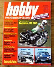 Hobby 18/1976 Test Matra Simca Bagheera S,Honda Civic 1200+Mazda 1300,Yamaha XS