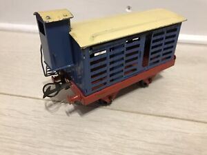⭐️⭐️⭐️ Vintage Hornby O Gauge French Goods Wagon With Guards Hut