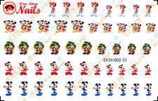 52pcs/Set Christmas Disney with Mickey & Minnie Waterslide Nail Decals DCH002-51