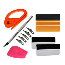 Wrapped Felt Squeegee & Lil Chizler Carve Knife 5 Blades Vinyl Sign Making Tools