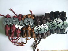 Wholesale lot 12 Pcs Wrap Hemp Totem Charm Leather Bracelets Silver Surfer Sur