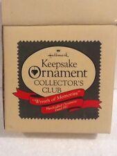 Hallmark Collector's Club Ornament - Wreath of Memories - 1987 - Qx1987