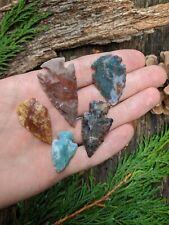 5x Modern Hand Knapped Flint/Jasper/Stone Arrowheads (For crafts etc)