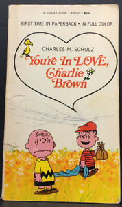 Vintage 1969 You're in Love Charlie Brown! by Charles M. Schultz Paperback Book