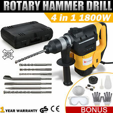 max 1800w demolition hammer rotary jack 4 in1 electric jackhammer sds plus drill