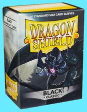 100 DRAGON SHIELD CLASSIC Standard Size BLACK Card Sleeves deck protector mtg