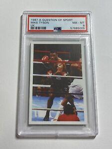 1987 A Question Of Sport UK Mike Tyson Rookie PSA 8