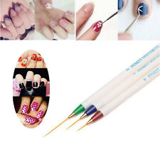 3PCS Beauty Nail Art Design Set Dotting Painting Drawing Polish Brush Pen Tools
