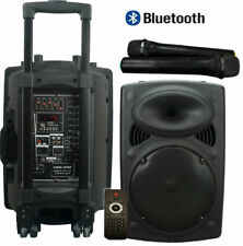 Vocal-Star VS-P120 12 inch 300W Portable PA Speaker System with 2 VHF Wireless Microphones